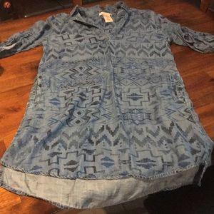 Philosophy shirt dress